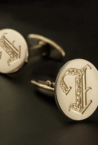 Letter I Initial Cufflinks