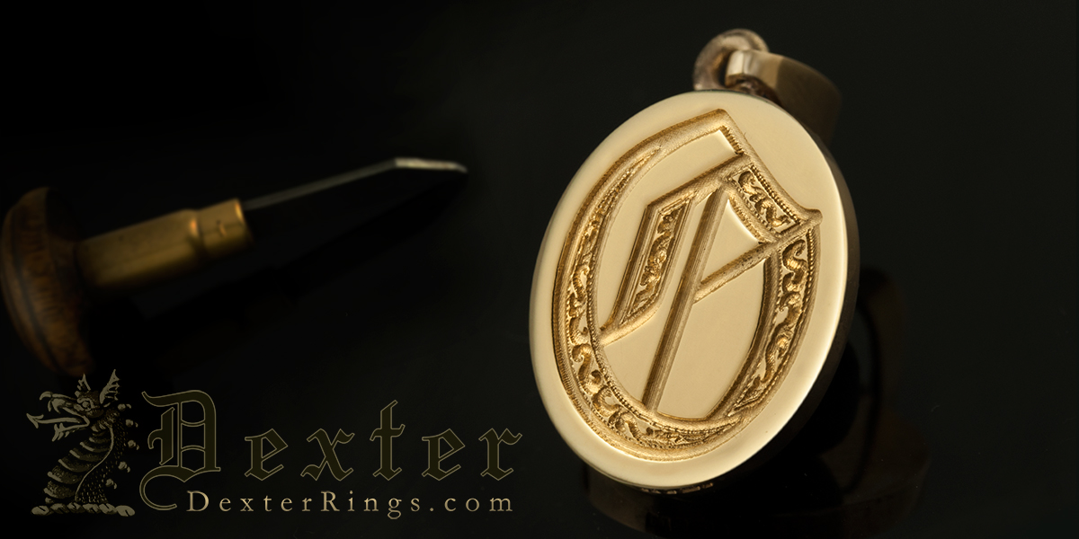 Letter O Deep Engraved Ornate Letter Pendant