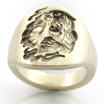 Contemporary Signet - Engraved with a Chinese Tiger