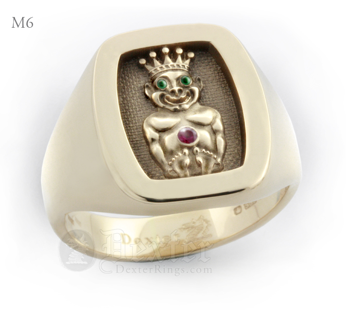 Jesters Billiken Gold Signet Ring