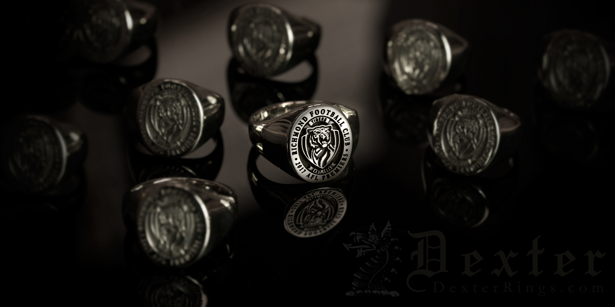 Aussie Football Richmond AFL Premiers 2017 Team Rings