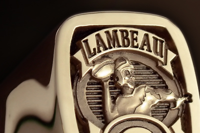 Greenbay Packers Lambeau Football Signet Ring