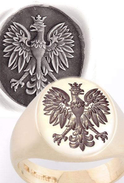 Polish Eagle Signet Ring