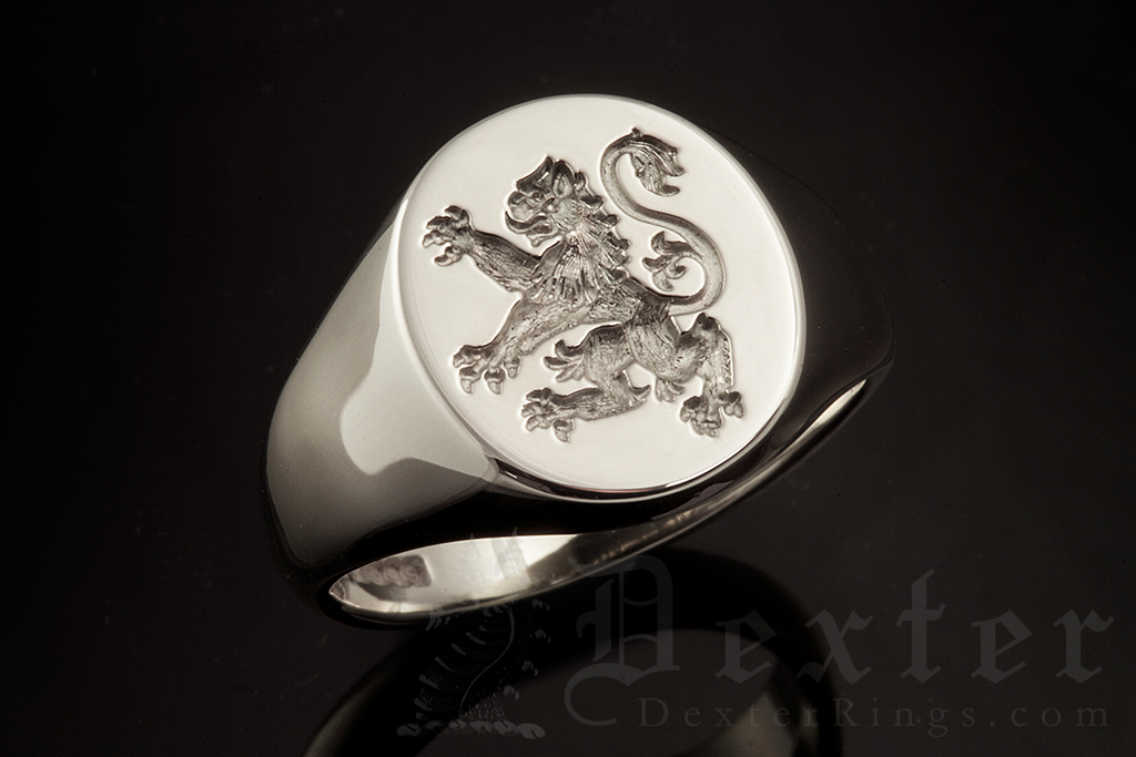 Royal Arms of Scotland Lion Signet Ring