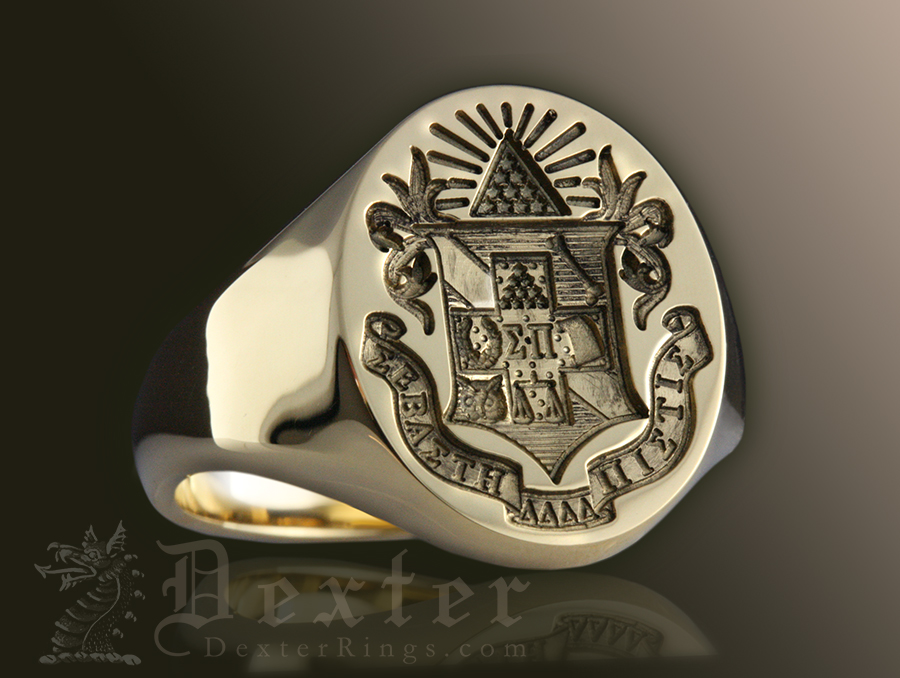 Sigma Pi Oval Signet Ring