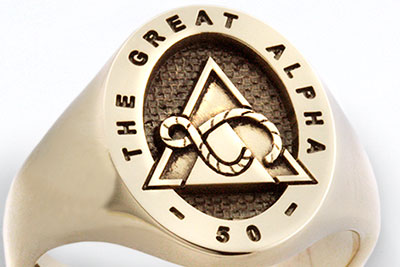 The Great Alpha Fraternity Signet Ring