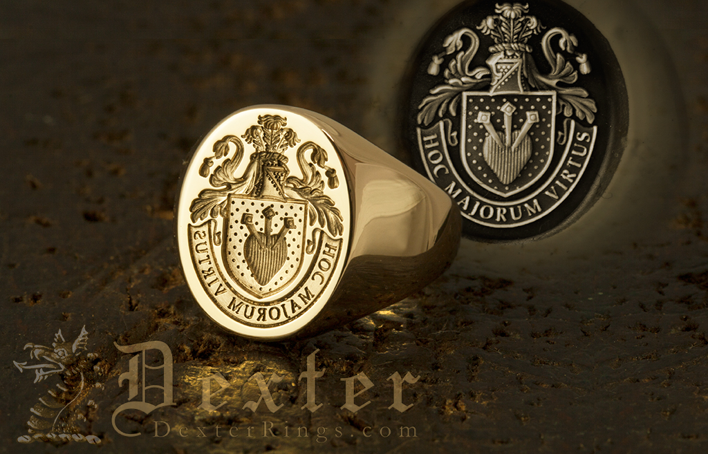 Family Arms 18ct Yellow Gold Signet Ring
