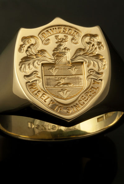 Custom Bespoke Shield Shape Signet Ring