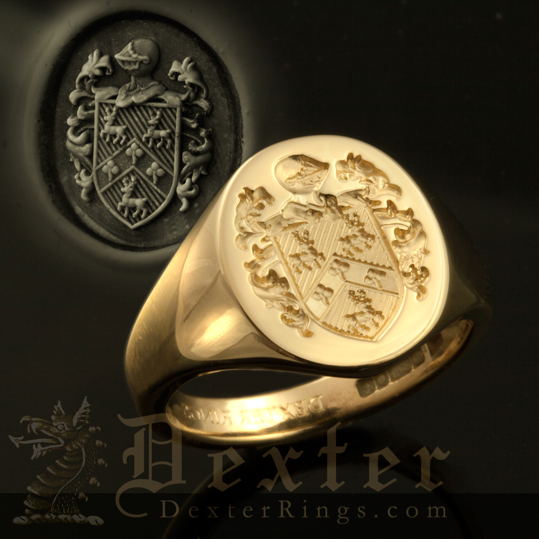 Ladies Coat of Arms Ring Without Motto, Name, or Crest
