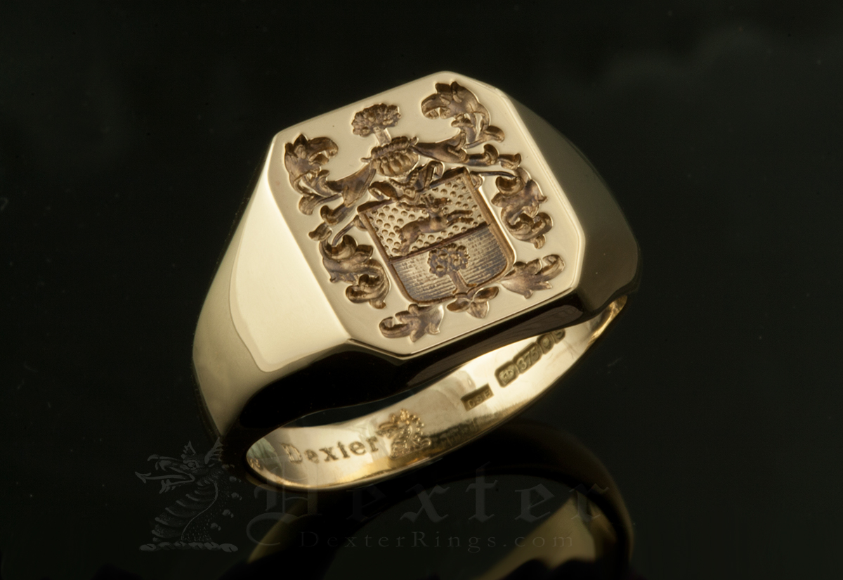 Bespoke Quote / 'Seal Engraved' / Octagonal 9ct