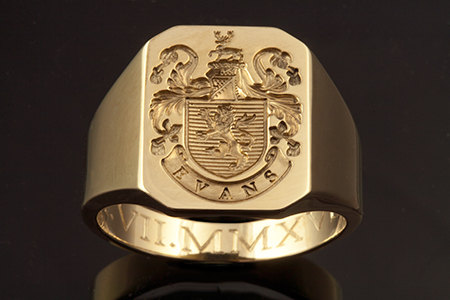 Plantagenet Style / Evans Family Name / Client's Own Ring