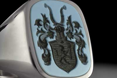 Blue Sardonyx Coat-of-Arms