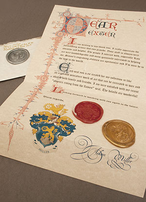 Calligraphy & Wax Seal Letter