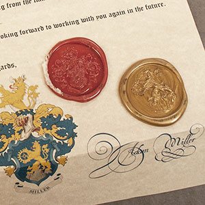 Calligraphy & Wax Seal Letter - wax details