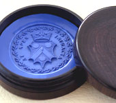 Vatican Desk Seal Blue Wax Seal