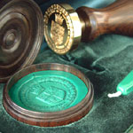 Vatican Desk Seals in Green Presentaion Box
