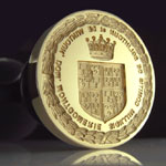 Vatican Desk Seal Comission: Shield, Motto & Laurel Wreath