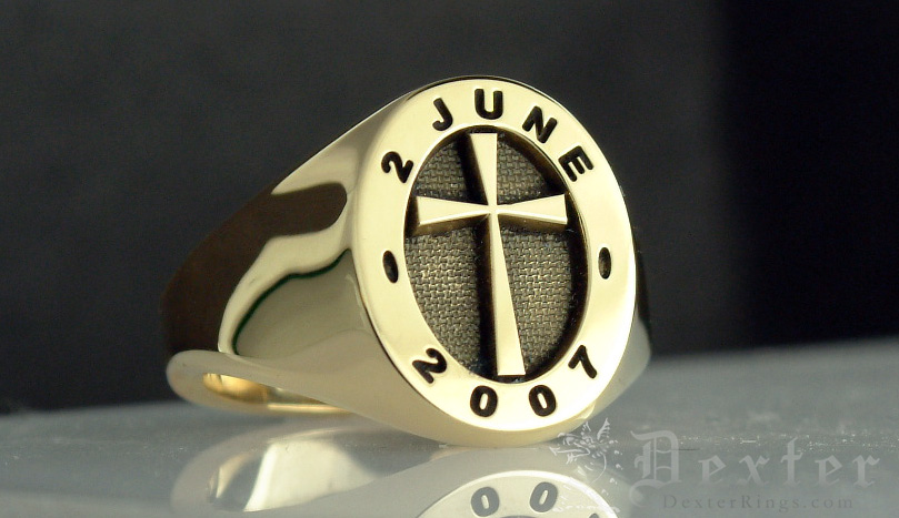 Cross Design Signet Ring