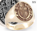 (M9)Crusader Design - Oval Ring
