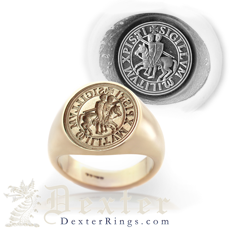 Seal Engraved Example Knights Templar