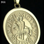 Knights Templar Ancient Seal Gold Pendant