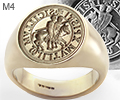 The Knights Templar Ancient Seal Ring