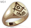 Ring with Masonic Lodge No