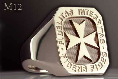 Signet Ring With Maltese Cross