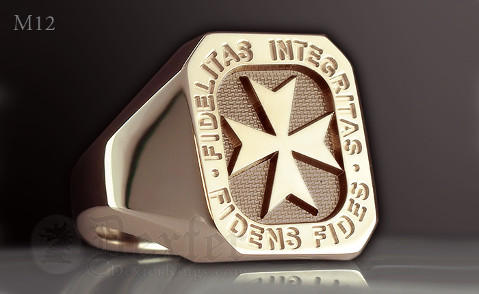 Signet Ring With Maltese Templar Cross