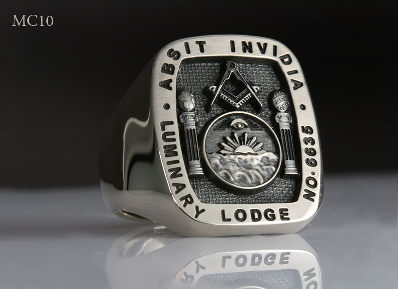Luminary Freemason Lodge Badge Signet Ring
