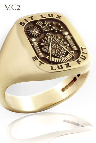 Past Master & Motto Sit Lux - Et Lux Fuit Ring (MC2 Elevated Engraved)