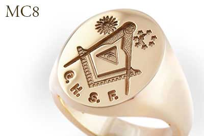 All Seeing Eye Masonic Signet Ring