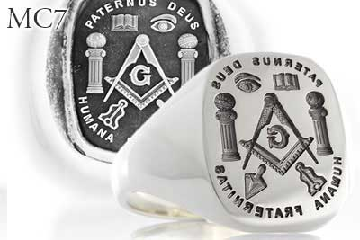 Masonic MC7 Ring Design - Seal Engraved
