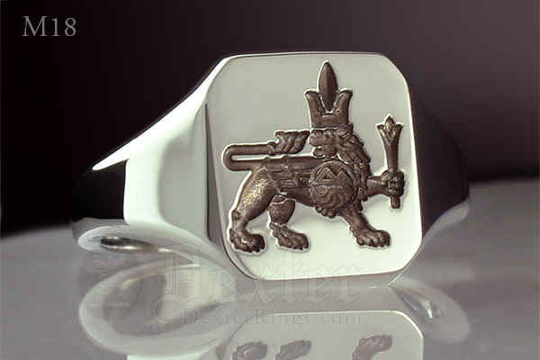 Masonic Lion of Erebouni / Zion Signet Ring