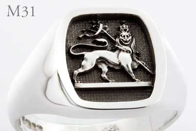 Masonic Lion of Zion Ring Elevated