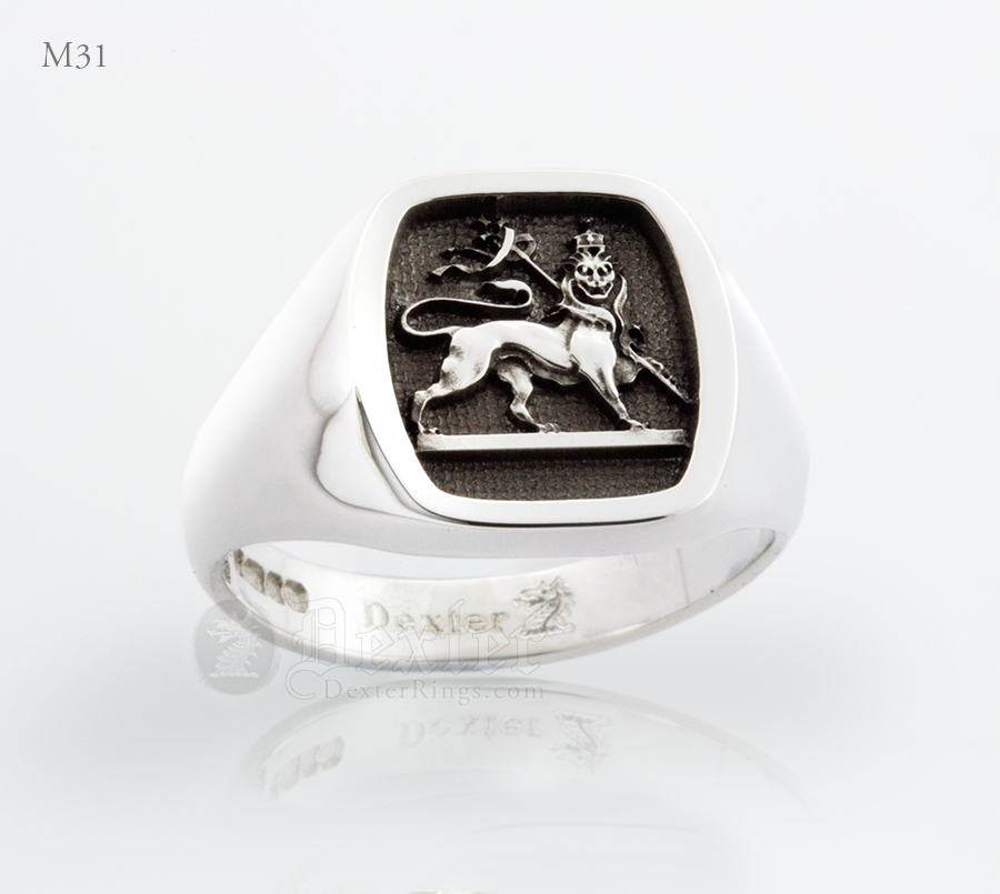 Masonic Lion of Zion Signet Ring