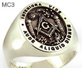 Elevated Masonic Ring includes Sprig of Acacia