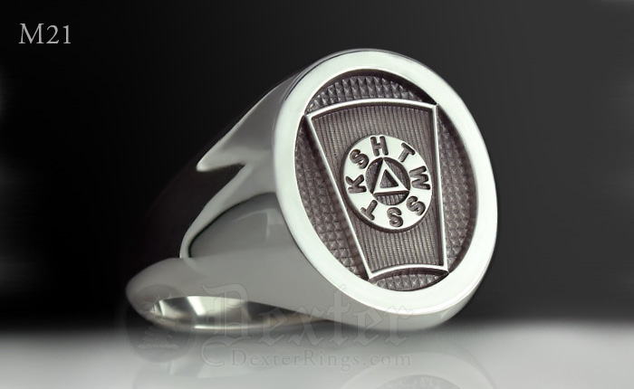 Masonic Mark Degree Signet Ring