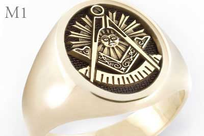 Past Master Signet Ring Engraved in Relief