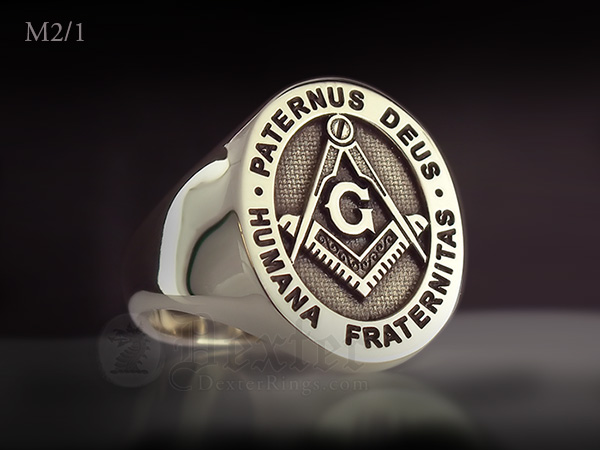 Paternus Deus Humana Fraternitas 14ct Yellow Gold Signet Ring
