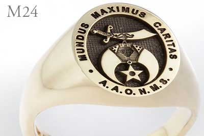 Shriners Signet Ring - Ancient Arabic Order of the Nobles of the Mystic Shrine