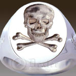 Skull & Bones Seal Ring (M20 Seal Engraved)