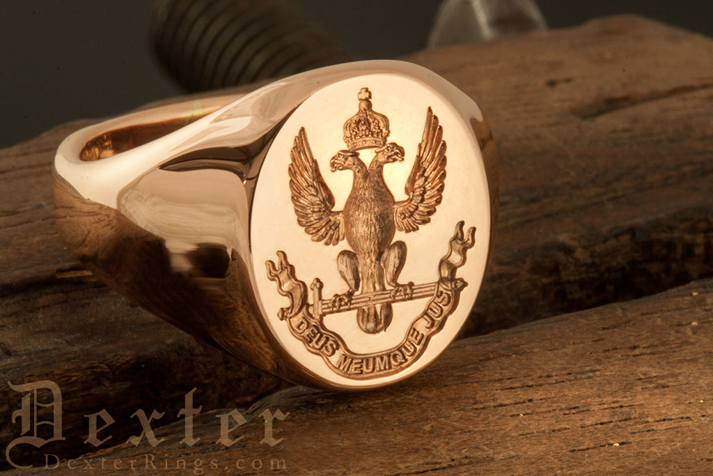 Signet ring engraved with deus meumque jus Supreme Council Scottish Rite