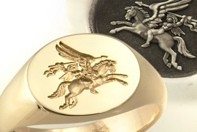 Airborne Forces Pegasus Traditional Seal Ring
