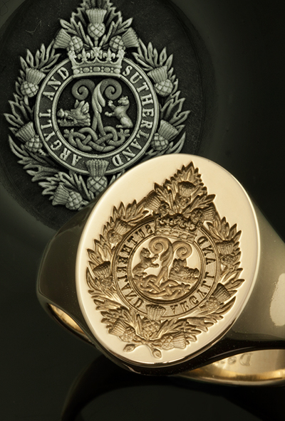 Argyll & Sutherland Regiment Signet Ring Available Seal or Show