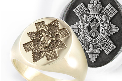 Black Watch Regiment Traditional Seal Ring