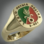 French Foreign Legion Enamelled Signet Ring