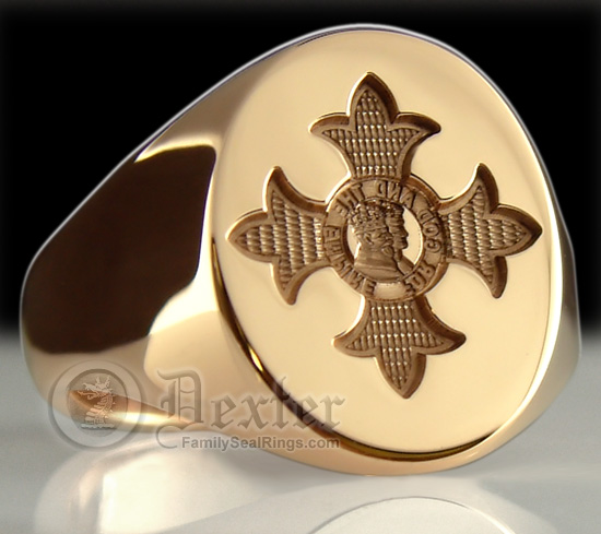 OBE Order of The British Empire Gold Seal Ring