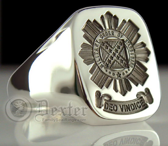 Order of The Stars And Bars Signet Ring