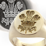 Prince of Wales Feathers Ring, as worn by Prince Charles